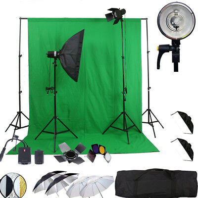 300W FLASH STROBE WIRELESS umbrella STUDIO LIGHT for DSLR Canon NIKON SONY
