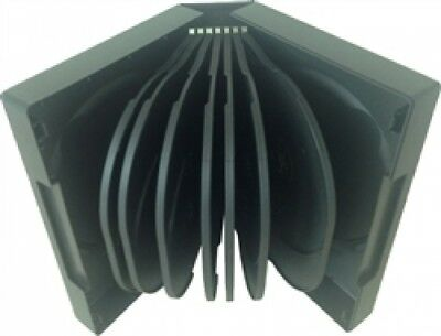 10 Black 16 Disc DVD Cases