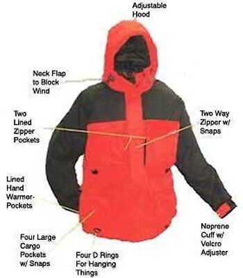 Arctic Armor Floating Extreme Weather Ice Fishing Snowmobiling Jacket Red 3X