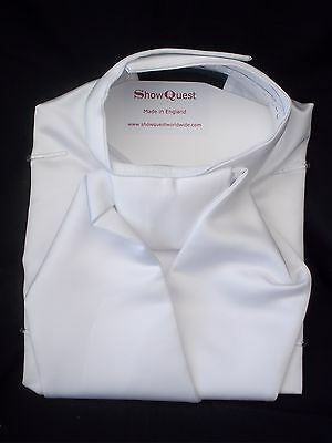 Horse Riding Bib Stock - Satin White  - by Showquest