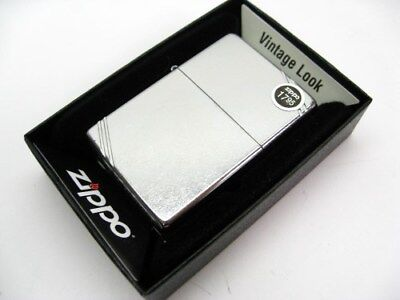 ZIPPO Full Size Vintage STREET CHROME w/ Slashes Windproof Lighter! 267