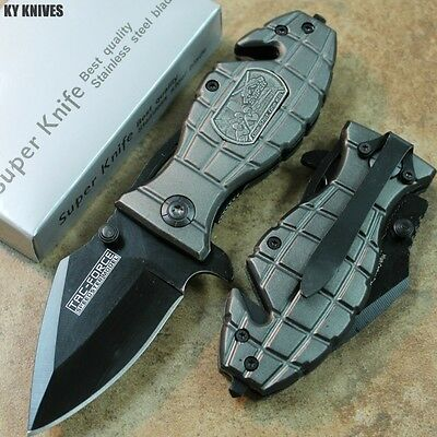 "6"" Gray SNIPER Tactical Assisted Open Bullet Rescue Pocket Knife TF-556SN zix"
