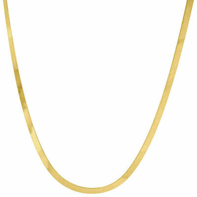 10k Yellow Gold Solid Necklace Silky Herringbone 2.75mm Chain 16 - 24 Inches New