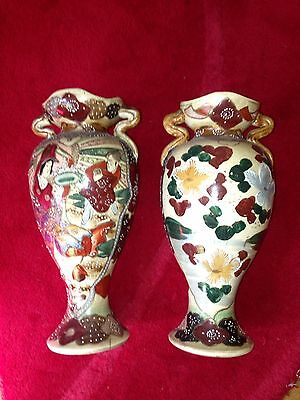 Pair Of 19th Century Hand-painted Japanese Vases Meiji period? NO RESERVE!
