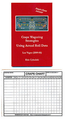 Dice Craps Wagering Strategies Using Actual Roll Data Book w/ Craps Chart Pad *