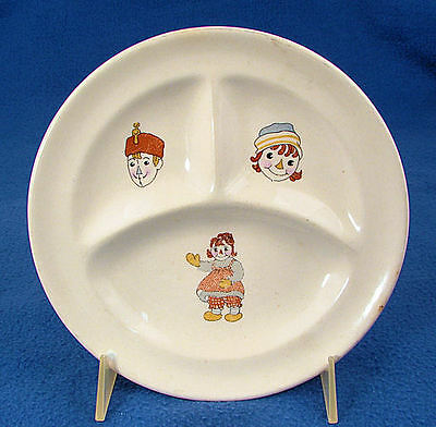 RAGGEDY  ANN  &  ANDY  1941  Child's  China  3 - Sectioned  DINNER  PLATE