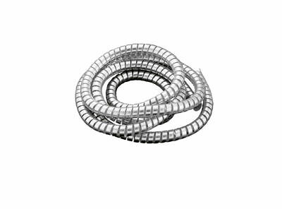Chrome Spiral Cable Wrap Wire Tidy 10mm Motorbike/Trike 1.5m Long