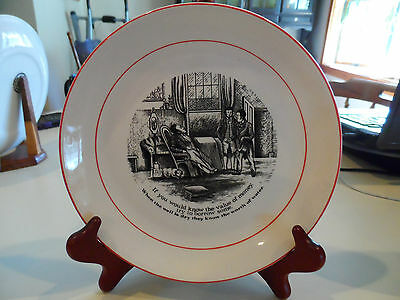 """The Way to Wealth Wise Sayings-If You Would..., 8""""Plate-Old Foley-England"""