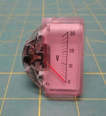 Kepco 135-0407 Vertical-Reading Voltmeter 0 to 30 V NSN 6625-00-205-2769