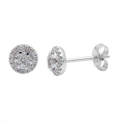 .20ct Round Diamond Solitaire Stud Earrings 14kt White gold