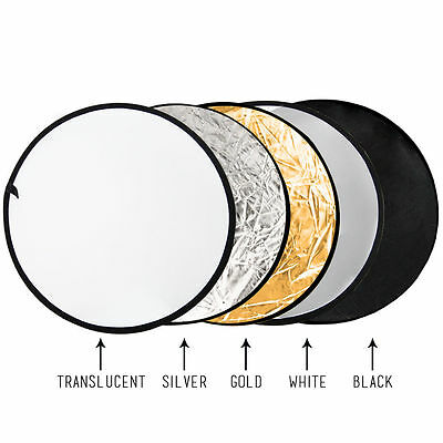 "43"" 5-in-1 Photography Studio Multi Photo Disc Collapsible Light Reflector 110CM"