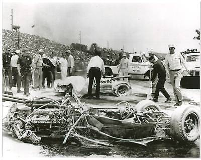 EDDIE SACHS DAVE MacDONALD 1964 INDY 500 8 X 10 PHOTO FATAL ACCIDENT REMAINS