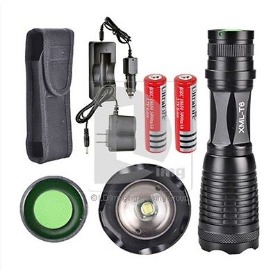 2x18650battery+2000LM UltraFire Flashlight CREE T6 Torch LED Light +^Car Charger