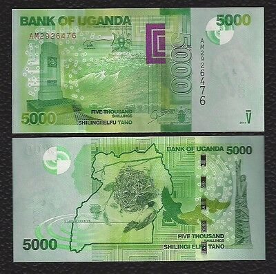 Uganda P-51b  2011 5000 Shillings-Crisp Uncirculated