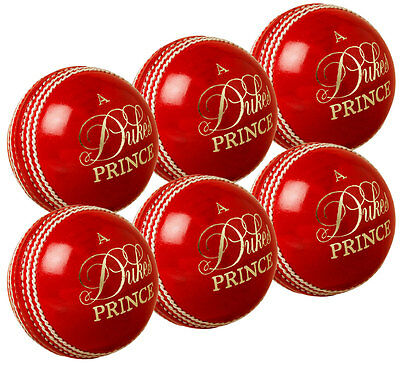 Pack of 6 Dukes Prince Match Cricket Balls Adult Top Grade Quality