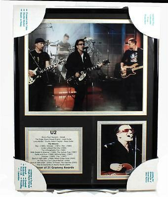 U2 -Front Row Collectibles Framed Celebrity Bio Photograph Set