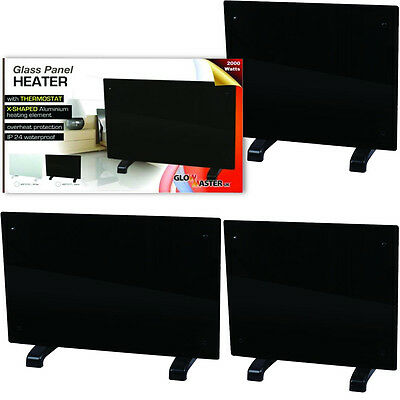 Panel Heater Radiator Black Portable Slimline Heating Wall Mounted Free Standing