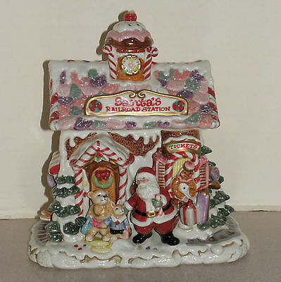 Fitz & Floyd Candy Lane Cookie Jar Ginerbread House Mint In Box