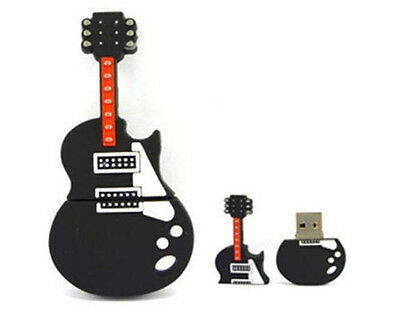 New 8GB Cartoon Guitar Shape USB 2.0 Memory Flash Stick Pen Drive