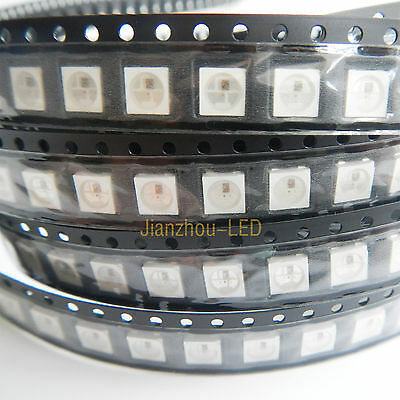 New 100PCS WS2812B IC Built-in 5050 RGB LED Individually Addressable Fullcolor