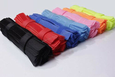 Hot Sell 50PCS Mixed Universal Computer Velcro Cable Tie Holder Organizer Trim