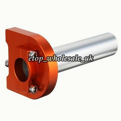 "Universal 7/8""22mm Orange CNC Throttle Handle Bar Lever Control For KTM BMW ZX"