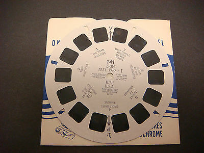 Sawyer's Viewmaster Reel,1948,Zion Nat'l Park Utah West Temple Towers   #141