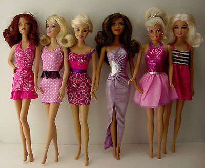Group of 6 Really Cute Outfits Made to Fit the Barbie Doll
