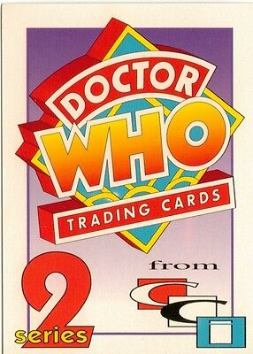 Dr Doctor Who Cornerstone Series 2 Promo Card B1 - Red Back