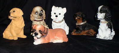 Lot of 6 K's Collection Resin Dog Figurines Dollar Tree