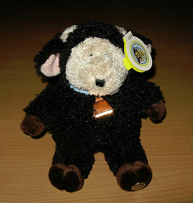 New NOS Starbucks Coffee Bearista Bear Black Sheep Lamb Plush NWT 2004