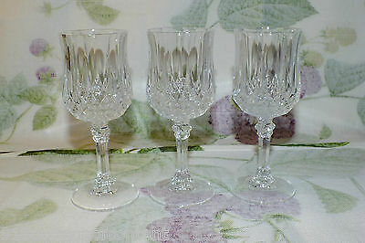 CRISTAL CRIS D'ARQUES LONGCHAMP CORDIALS LOT OF 3  EXC