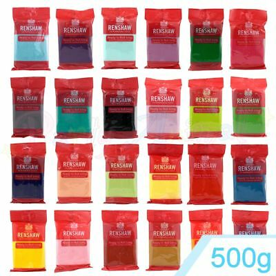 Renshaws Regalice 500g Gram Ready Roll Icing Sugarpaste Fondant Bright Colours