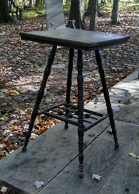 Antique Hallway Entryway Table All Wood Occasional Stair Landing Small Area