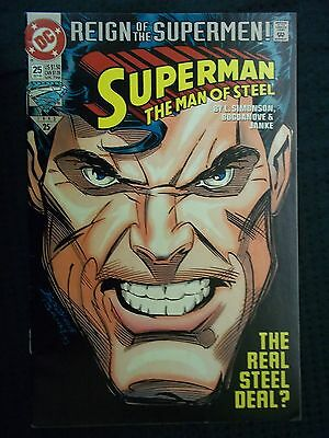 DC Comics 1993 # 25 REIGN OF SUPERMEN SUPERMAN THE MAN OF STEEL