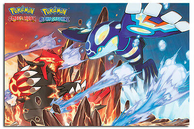 Pokemon Groudon And Kyogre Official Poster Large New - Maxi Size 36 x 24 Inch