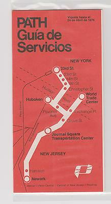 MINT  1976     PATH       Map - Guide - Timetable  (Spanish)