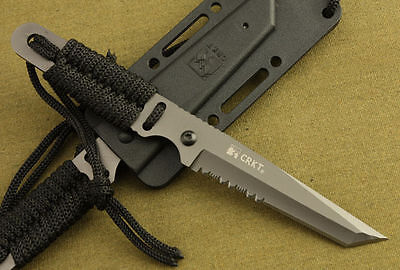 """US Military Survival Hunting Camping Gear Fixed Blade Defence Neck 7"""" Knife"""