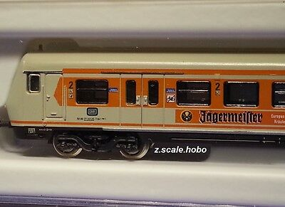 "Marklin Z 87990 S-Bahn Control Passenger Car ""Jagermeister"" LED *NEW $0 SHIP"