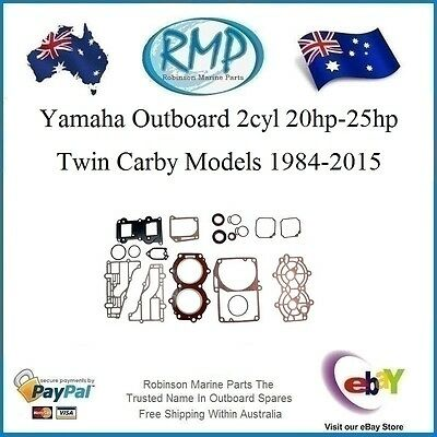 A Brand New Gasket Kit Yamaha 20hp-25hp Twin Carby 1984-2015 # R 6L2-W0001-00