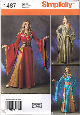 Game of Throne Renaissance Costume Dress Gown Belt Sewing Pattern 14 16 18 20 22