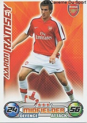 Aaron Ramsey # Wales Arsenal.fc Cardiff City.fc Card Premier League 2009 Topps