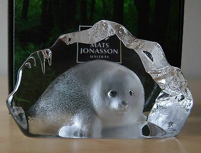 MATS JONASSON   BABY SEAL    Maleras Sweden # 33150  FREE INSURED SHIPPING
