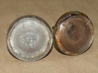 2 Vintage Antique Estate Solid Glass Handle & Iron Door Knob Set 2 1/8 X 2 5/8""