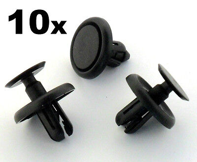 10x Lexus & Toyota Plastic Clips for Engine Bay Covers & Shields (7mm Hole)
