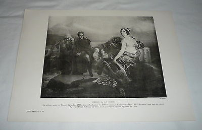 1924 print ~ JULIETTE RECAMIER and PRINCE HENRY OF PRUSSIA