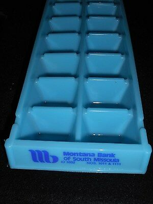 Vintage 1970's  Montana Bank Of South Missoula Advertising Ice Cube Tray Rare