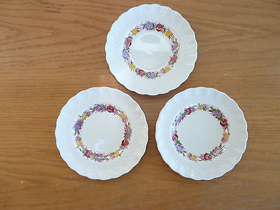 Copeland Spode Rose Briar  3 Small Bread & Butter Plates  5 1/2""
