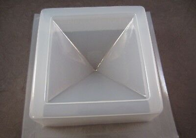 """Resin Mold Epoxy Pyramid 3.5"""" 87mm Orgone Paperweight Reusable Plastic USA"""