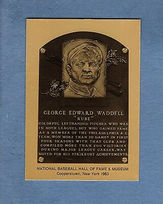 Hall of Fame Metallic Plaque: RUBE WADDELL, Athletics/A's (1 of 1,000 issued)